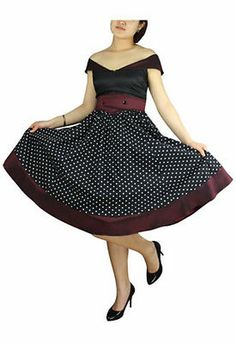 Plus Size Black and Burgundy Polka Dot Retro Rockabilly Dress 1x 2X 3X 4X | eBay
