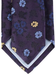 Delicate Flower Midnight Tie | Navy Floral Tie | Penrose London