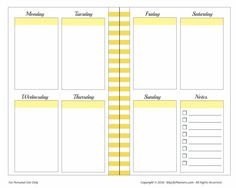 MHP Vertical Weekly Happy Planner Insert