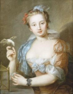 Portrait of a young lady. 18th century, French school