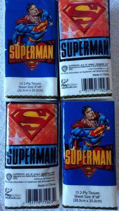 DC Comics SUPERMAN Tissue  #PlayAction