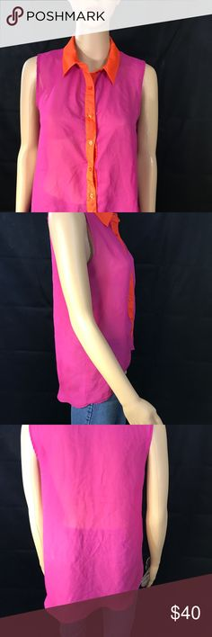 Multi Color Sheer Top Multi Color Sheer Top one clothing Tops Blouses