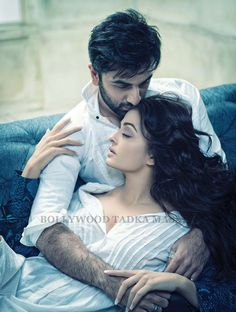 Aishwarya Rai and Ranbir Kapoor filmfare shoot