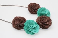 Cute flower necklace from The Lovely Poppy on #Etsy