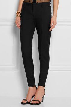 Saint Laurent   Wool-gabardine skinny pants   NET-A-PORTER.COM