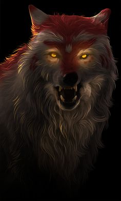 Beautiful Wolf art by a talented Artist The Crow, Fantasy Wolf, Fantasy Art, Anime Wolf Drawing, Wolf Drawings, Shadow Wolf, Wolf Artwork, Werewolf Art, Deep Art