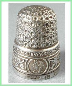 Jubilee sterling silver thimble