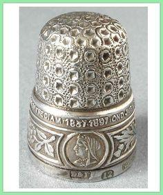 Antique Jubilee Thimble 1837-1897