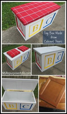 How to build a toy box from cabinet doors.  Fantastic tutorial.
