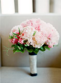 Beautiful #pink #peony #wedding #bouquet