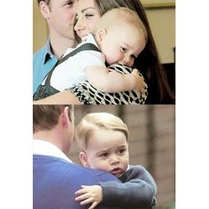 Prince George hugging his Mummy and Daddy. ❤  #princegeorge #princewilliam #katemiddleton #duchessofcambridge img.ravishingtheroyals.tumblr