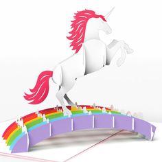 Unicornio Pop-Up tarjeta unicornio cumpleaños por LovePopCards