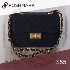 """'Elisa' Night Out CB Clutch - Black Color: Black Your big night on the town won't be complete without our 'Elisa' Cross Body Clutch.   Available in 5 colors,  Beige, Black, Blue, Olive, and Pink to match any outfit.   Features  *Cross body stitching  *Twist Lock front flap  *Shoulder strap  *Gold accent metal detail buckle and strap  Material: Polyurethane and mixed metals Size  Measurements: 7"""" Width 5"""" Height 3"""" Depth   Modabyboutique Moda Boutique Moda SF SFmoda wholesale @wholesales…"""