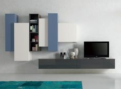 Modern Italian Wall Unit Exential Y16 by Spar - $6,349.00