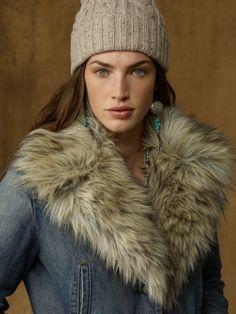I WANT THIS Denim Faux-Fur-Trim Jacket - Denim & Supply  Outerwear - RalphLauren.com