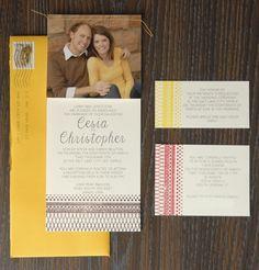 Chris & Cesia wedding invite