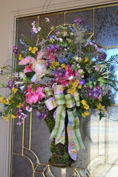 Kristen's Creations: Peek a boo Bunny Door Arrangement