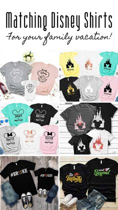 If you're looking for matching family Disney shirt ideas you got them right here! So many cute shirts your family will not be embarrased to be seen together in!
