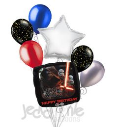 Star Wars Force Awakens Happy Birthday Balloon Bouquet