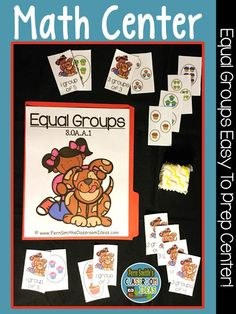 Grade Go Math Equal Groups Quick and Easy To Prep Center Games Multiplication Activities, Math Rotations, Math Centers, 2nd Grade Teacher, Third Grade Math, Fourth Grade, Grade 3, Second Grade, Go Math