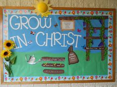 Cute bulletin board. I used the idea on a small board in my classroom and it is  quite cute!