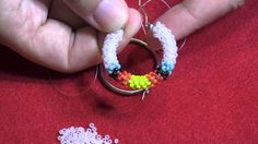 Powwow Craft Series, Peyote Stitch - Beaded Hoop Earrings