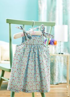 Whip up a cool summer dress for your a little one using our easy-to-sew patternThis dress pattern can also be made up in babycord, flannel or a heavier fabric, then worn as a pinafore over a top when it's chilly