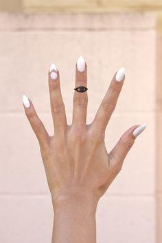 Black Third Eye Midi Ring    http://www.gold-soul.la/collections/rings/products/black-third-eye-midi-ring