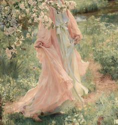 "599 Likes, 4 Comments - Art in details (@paintingdetail) on Instagram: ""Herbert Arnould Olivier 1861-1952 ""Summer has come in"""""