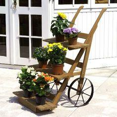 Stojan vozík na kvety