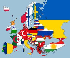 2nd Largest Nationality Living In Each European Country