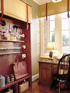 Love the use of pegboard here - definitely stealing that idea!