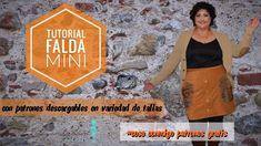 Tutorial falda mini con patrones descargables - YouTube Diy Clothes, The Creator, Outdoor Blanket, Mini, Youtube, Videos, Men's Shirts, Men's, Molde