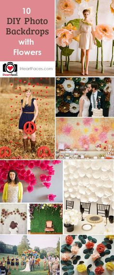 DIY Photography Backdrops with Flowers via iHeartFaces.com