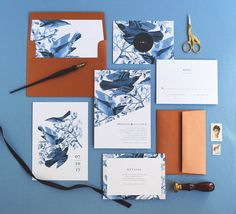 Brenna Wedding Invitation & Correspondence Set / Vintage Bird