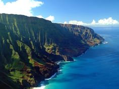 """There is NOTHING in this world as gorgeous as the Napali Coast! Kauai, HI.  What an amazing helicopter ride...."