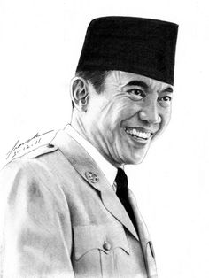 Soekarno 1901 - 1970 ©2012   FrankGo  The Proclaimer, The Founding Father and The 1st President Of Our Beloved Country, INDONESIA.  Pencil 4B, HB & Mech.Pencil 2B on Paper