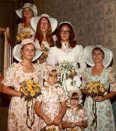 70s full bridal glamour