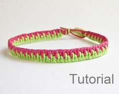 macrame bracelet pattern tutorial pdf jewelry instructions knot diy handmade knot easy step by step Christmas how to micro knotonlyknots adjustable clasp green lacy Xmas knotted instant download beginner jewellery  Welcome to my shop.  INSTANT DOWNLOAD MACRAME BRACELET PATTERN AND TUTORIAL  This listing is for an 18 page PDF PATTERN and tutorial, with clear step by step instructions and photos, for a macrame bracelet. You must have Adobe Acrobat Reader installed on your computer to open this…