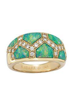 Kabana Gold, Opal and Diamond Ring