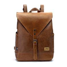 Unisex PU Leather Shoulder Bag Backpack
