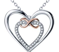 Buy 925 Sterling Silver Infinity Love Necklace at 8-jewelry.com! Free shipping to 185 countries. 45 days money back guarantee. Infinity Heart, Infinity Love, Infinity Necklace, Love Necklace, Pendant Necklace, Simple Gifts, Love Gifts, Heart Art, Heart Ring
