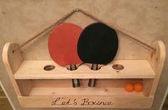 Ping pong paddle&ball holder