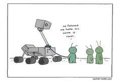 Rover at mars