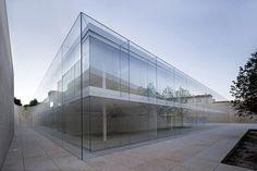 Offices for Junta Castilla y León Alberto Campo Baeza, office architecture, glass façade,  Spanish architecture, Junta Castilla y León offices, greenhouse effect