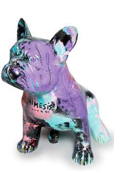 JULIEN MARINETTI (Né en 1967) Doggy John Mimesis, 2010 Sculpture-volume en bronze peint Signé deux fois 37 x 37 x 26 cm Provenance: Galerie Barthoux Estimation : 3 500/4 500 € chez Osenat Fontainebleau le samedi 27 Juin 2015