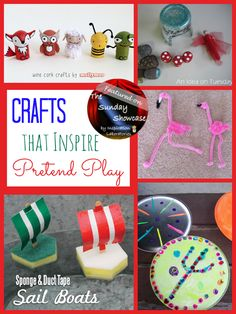 Crafts that Inspire Pretend Play Featured on the Sunday Showcase at Inspiration Laboratories