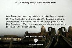WritingPrompt – Name this book