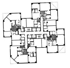 Marina city floor plan 1 bedroom marina city the for Brodie house plan