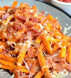 Sweet Potato Chips with Bacon. | 29 Mind-Blowing Ways You Can Eat Chips